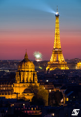 Val-de-Grace & Tour Eiffel (A.G. Photographe) Tags: anto antoxiii xiii ag agphotographe paris parisien parisian france french francais europe capitale d850 nikon sigma 150600 toureiffel eiffeltower firework feudartifice valdegrace sunset bluehour