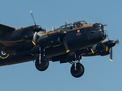 BBMF Avro Lancaster (davepickettphotographer) Tags: avro lancaster oldwarden uk bedfordshire bbmf battleofbritainmemorialflight bomber lancasterbomber gear down dirtypass biggleswade secondworldwar aircraft aviation
