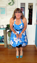 Blue (Trixy Deans) Tags: crossdresser cd cute crossdressing classic classy cocktaildress corset sexy sexytransvestite sexylegs sexyblonde shemales tgirl transgendered transsexual transvestite tgirls trixydeans