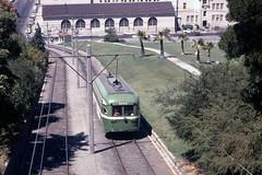 US CA San Francisco MUNI PCC 1033 8-1970 Balboa Park (David Pirmann) Tags: california sanfrancisco muni tram trolley streetcar transit railroad transportation pcc