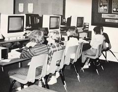 Gloria Dei Lutheran School Atari lab (blakespot) Tags: atari computer lab hampton va school kids black white