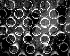 oh oh b&w (Hilarywho) Tags: abstract circles ohoh holes blackandwhite tripleexposure layers layeredphoto superimposed
