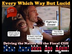 Every Which Way But Lucid (Cui Bono) Tags: donald trump orangutan clint eastwood president america usa republican monkey racist klan fiscal conservative hollywood film movie election presidency white house pickup truck drive driver backseat fascist nazi right wing ape bigot demagogue turn clyde hominid southern hick make great south strategy klu klux bankrupt immoral oligarchy drain swamp
