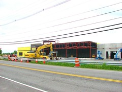 THE NEW HONDA OF KINGSTON SITE (richie 59) Tags: ulstercountyny ulstercounty newyorkstate newyork townofulsterny townofulster unitedstates sunday weekend route9w rt9w 9w usroute9w ushighway spring richie59 america outside constructionarea buildingsite constructionsite honda us9w construction steelwork steelframe 2018 may2018 may202018 autodealership komatsu 2010s hudsonvalley midhudsonvalley midhudson ny nys nystate usa us 2lane twolane 2lanehighway twolanehighway highway road backhoe guardrail newbuilding grass