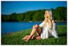 Natalie - Lakeside (jfinite) Tags: model beauty fashion environmentalportraiture spring swimwear swimsuit lake blonde