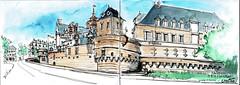 Nantes, le Château des Ducs de Bretagne (Croctoo) Tags: croctoo croctoofr croquis nantes encre aquarelle water