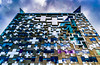A day in the City.. (EYeardley) Tags: sky building geometric architecture thecube birmingham city windows reflections 365 365challenge nikon d3300 lookup inthecity clouds dramatic vibrantcolours day106