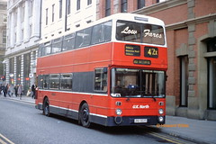 Dead Ringer for... Low Fares... (SelmerOrSelnec) Tags: uknorth hadfield leyland atlantean northerncounties una822s fvr276v manchester mosleystreet ringer greatermanchesterpte greatermanchestertransport gmt gmpte bus