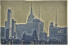 Empire, NYC (plismo) Tags: fortlee newjersey unitedstates city nyc building skyscraper empirestate architecture empirestatebuilding sky telephoto manhattan newyork newyorkcity skyline plismo