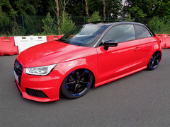 Audi A1 (911gt2rs) Tags: treffen meeting show event tuning tief low stance slammed s1 rot red airride fahrwerk airlift custom schwarzefelgen
