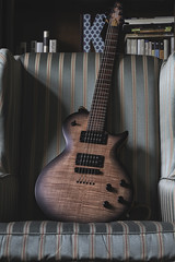 2016 Kiesel CS624 in Red denim with black burst (SFHPhotography) Tags: kiesel carvin flamed maple flame neck fretboard red denim burst guitar axe six string