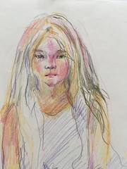 Portrait of a girl (Katya-EH) Tags: graphic drawings portrait pencil sketch people