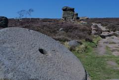 20180419 Wlk frm Fox Hse_0043 Mother Cap above Millstone Edge (paul_slp5252) Tags: darkpeak peakdistrictnationalpark mothercap millstoneedge walking hiking