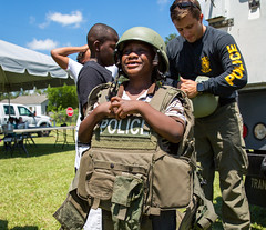 NCPD holds community cookout (North Charleston) Tags: northcharleston southcarolina unitedstates ncpd northcharlestonpolice police cop officer sheriff deputy lawenforcement kid child swat gear tactical helmet flak