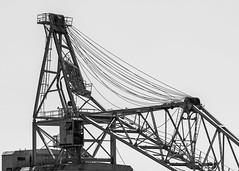Crane Down (Oleg S .) Tags: bw silhouette machinery crane cable pennsylvania philadelphia usa