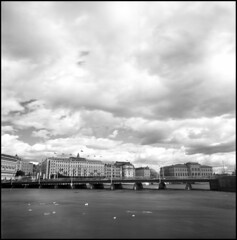 406 Acros 08 (rubbernglue) Tags: fujiacros d76 clouds iloveclouds bridge blackandwhite bw bwfp filmphotography analog squareformat 6x6 2018 bronica bronicaectl stockholm sweden sverige redfilter