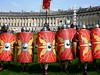 Roman Re-enactment, Ermin Street Guard (jacquemart) Tags: romanreenactment erminstreetguard formation shields bath royalcrescent