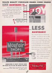Sot Dec 53 Mayfair (hmdavid) Tags: vintage sign texlite porcelain ad advertisement signsofthetimes magazine 1950s midcentury roadside advertising