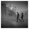 Morning Walk II (Vesa Pihanurmi) Tags: amsterdam holland netherlands dawn morning fog foggy mist trees road walk character street streetphotography streetmetaphysics metaphysical metaphysics movement
