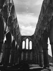 Ecclesiastical Echoes (whitehart1882) Tags: england rievaulx stone history sky arches architecture ruins building abbey