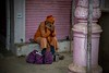 Prayer of the Lonely Sadhu (shapeshift) Tags: davidpham davidphamsf candidphotography socialdocumentary alley column nikon d5600 streetphotography shapeshiftnet shapeshift pray praying prayer sadhu pilgrim banaras benares kashi varanasi uttarpradesh india in