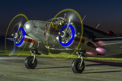 Smokin' (Kev Gregory (General)) Tags: beech c45h expeditor ca164 gbkgl abingdom raf twin exhaust hot long exposure ground run engines kev gregory canon 7d