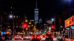 New York City Lights (christopherbischof) Tags: newyork strasse street streetphotography manhattan bigapple ny newyorkcity newyork2018 oneworldtradecenter skyscraper traffic night nacht
