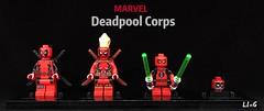 Deadpool Corps Marvel (L1n6zz) Tags: figfactory leyile lego marvel kidpool ladydeadpool headpool deadpool