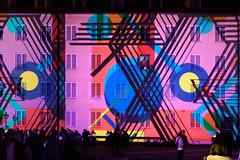 Klanglicht, Graz (www.textbox.at) Tags: lichtshow projektion wand farbe nacht muster abstrakt graz austria styria burghof geometrie