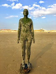 Iron Man - Crosby Beach (cattan2011) Tags: sculpture contemporaryart artists artwork seascape waterscape traveltuesday travelphotography travelbloggers travel england liverpool crosbybeach anthonygromley ironman naturelovers natureperfection naturephotography nature landscapephotography landscape