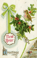 4327 (Ebenezer Maxwell Mansion) Tags: 1900s new year years eve holiday greeting cards postcards design
