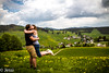 I love you... (Felicis_Flower) Tags: portrait pair paar woman lady man mann frau view aussicht field feld mountain berg schwarzwald blackforest germany deutschland
