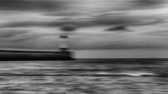 seaward (Dr Kippy) Tags: sea intentionalcameramovement icm canon7d sigma1750mmf28 bw blackwhite blackandwhite mono monochrome coast