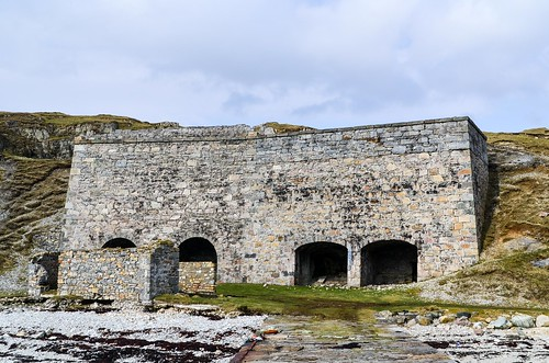 Limestone quarry and kilns in Loch Eriboll