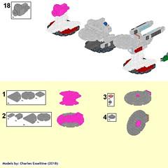 Star Trek Ships page (20) (origamiguy1971) Tags: bluebrint startrek star trek lego esseltine enterprise klingon reliant kahn tos movie moc instructions