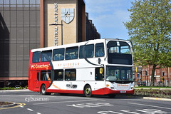PC Coaches Lincoln P29PCC. (EYBusman) Tags: pc coaches lincoln independent bus coach new station city centre lincolnshire scania omnidekka n94 east lances lancashire nottingham transport yn05wfr p29pcc eybusman