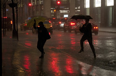 Heavy Thunderstorm and Downpour Downtown Chicago Illinois 5-14-18  1491 (www.cemillerphotography.com) Tags: rain flood torrential cloudburst theloop pedestrians traffic westadamsstreet wet soaked drenched soggy umbrellas puddles jumper rushhour commuter