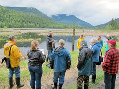 Neil introduces wetland classification forms (BC Wildlife Federation's WEP) Tags: salmo senioratvclub workshop training education wetland wep bcwf gps