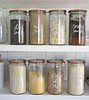 Labeled Jars (Heath & the B.L.T. boys) Tags: pantry jars organize shelves label