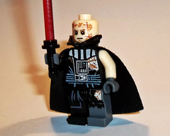 Battle Damaged Darth Vader (OB1 KnoB) Tags: lego star wars minifigure custom darth dark vader vador endomagé battle damaged starwarstheforceunleashed force unleashed rogue one rebels ahsoka duel galen marek starkiller