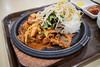 Vegetable Rice with Spicy Pork. (Kim Jin Ho) Tags: seoul korea traditional food spicy bean sprout lettuce stone pot 용산 이마트 푸트코트 court