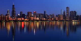 Early morning view of Chicago's skyline