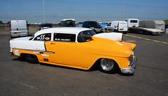 Chevy_8985 (Fast an' Bulbous) Tags: doorslammer car vehicle fast speed power drag race track strip pits classic automobile santa pod nikon outdoor motorsport