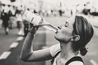 Female Drinking Soda