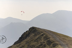 Paraglider (JoshJackson84) Tags: canon60d sigma18250mm europe uk england cumbria lakedistrict lakes blencathra knowecrag paraglider