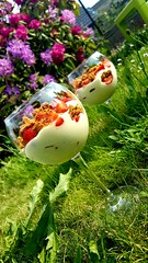 "Quand le tiramisu rencontre Weight Watchers...    ""Tiramisu"" fraises-spéculoos. (Claire Coopmans) Tags: patisserie tiramisu fraises weight watchers mousse speculoos dessert jardin"