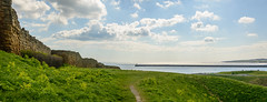 Tynemouth-Pano-2 (stevefge) Tags: 2018 newcastle northeast tynemouth uk coast castle walls sky tyne rivers pier panorama landscape path ruins reflectyourworld