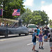 Sailors participate in the Guam Liberation Day parade.