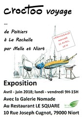 Restaurant Le Square & Galerie Nomade - Niort avril - juin 2018 (Croctoo) Tags: croctoo croctoofr croquis crayon aquarelle watercolor expo exposition
