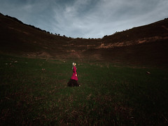 Uncertain Red (HarQ Photography) Tags: panasonic gh5 leicavarioelmarit818mmf2840 portrait conceptual landscape red highland cool beauty japan